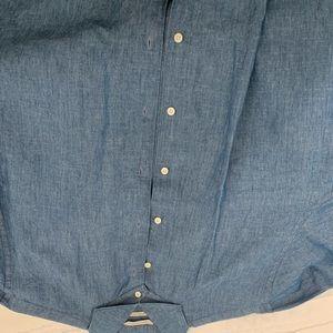 Other - Men's denim dress shirt cutaway collar extra slim